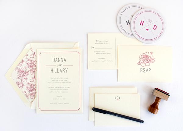 Classic Elegant Floral Wedding Invitations Rafftruck Danna + Hillarys Classic Floral Wedding Invitations