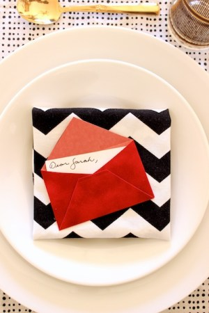 DIY Mini Love Letter Placecards OSBP 12 DIY Tutorial: Love Letter Dinner Party Placecards