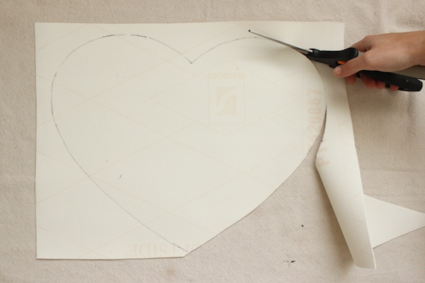 DIY White Leather Heart Placemats OSBP 6 DIY Tutorial: White Leather Heart Placemats