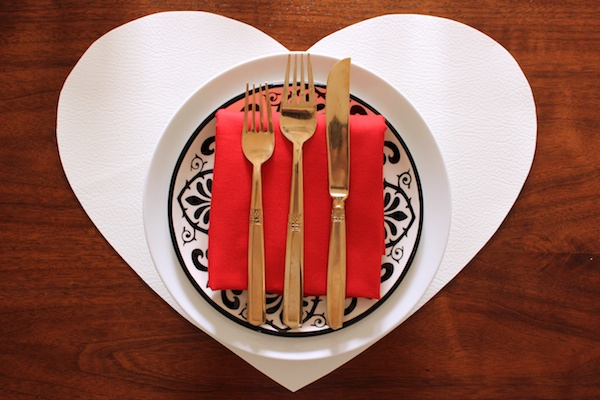 DIY White Leather Heart Placemats OSBP 8 DIY Tutorial: White Leather Heart Placemats