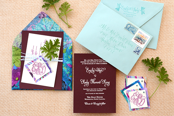 Final 1 DIY Tutorial: Tropical Invitation Suite + Fabric Envelope