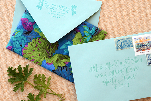 Final 3 DIY Tutorial: Tropical Invitation Suite + Fabric Envelope