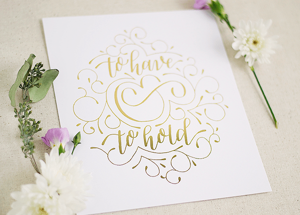 Paper and Honey Gold Foil Valentines Day Print2 Quick Pick: Paper & Honey