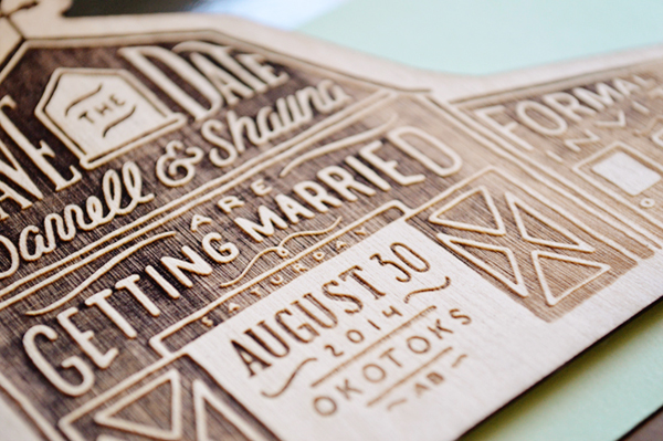Rustic Etched Wood Barn Save the Dates Shauna Luedtke3 Shauna + Darrells Rustic Etched Wood Barn Save the Dates
