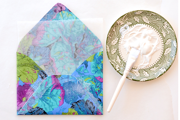 Step 3 2 DIY Tutorial: Tropical Invitation Suite + Fabric Envelope