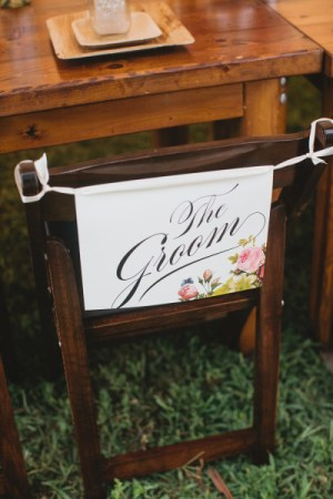 Bold Floral Groom Sign Catherin Rhodes Photography 300x450 Wedding Stationery Inspiration: Bold Florals