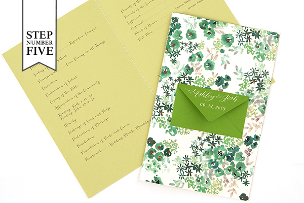 Env Program Step5 DIY Tutorial: Seed Packet Wedding Ceremony Program