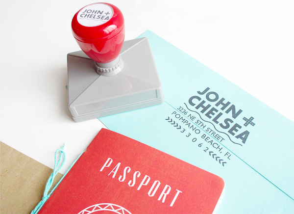 Red Aqua Passport Destination Wedding Invitations Two if by Sea Studios4 Chelsea + Johns Colorful Passport Wedding Invitations