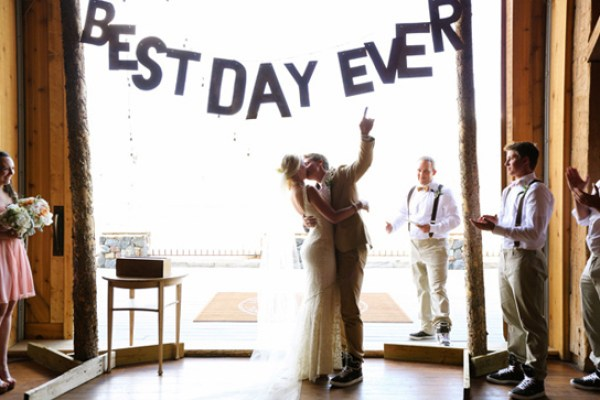 Best Day Ever Banner Laura Murray Photography1 Wedding Stationery Inspiration: Best Day Ever