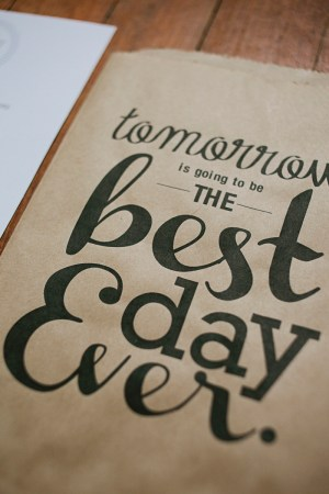 Best Day Ever Favor Bags Brooke Courtney 300x450 Wedding Stationery Inspiration: Best Day Ever