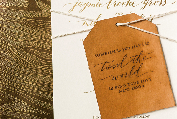 Calligraphy Gold Foil Wedding Invitations Atheneum Creative10 Jaymie + Miless Calligraphy Gold Foil Wedding Invitations