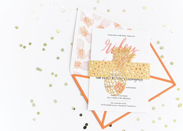 Preppy Palm Beach Wedding Invitations Coral Pheasant2 Preppy Palm Beach Wedding Stationery Inspiration