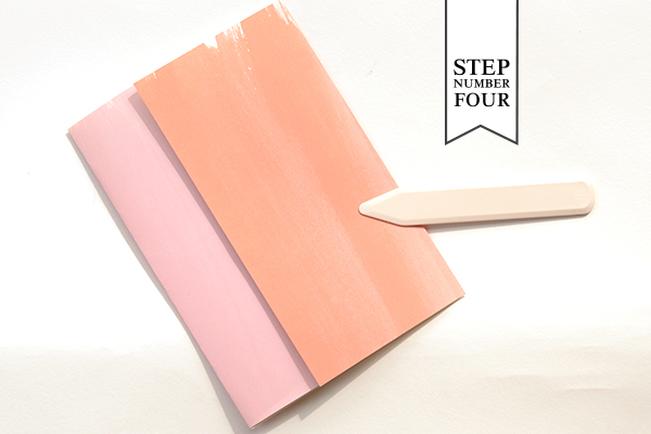 Watercolor Fold Step4 DIY Tutorial: Spring Watercolor Wedding Invitation Suite