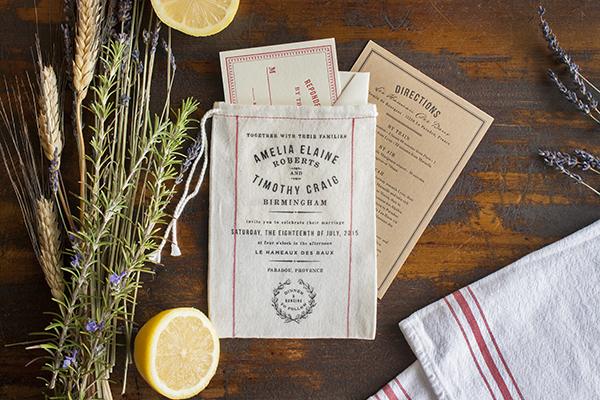 Muslin Bag Vintage Grain Sack Wedding Invitations Lucky Luxe3 Rustic Market Inspired Fabric Wedding Invitations