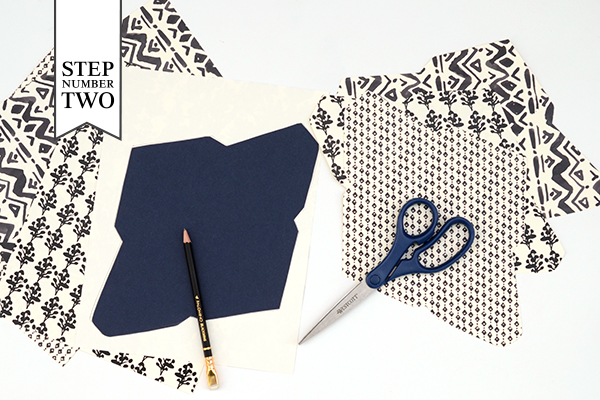 Pattern Stationery Step2 DIY Tutorial: Modern Personal Stationery Gift Set