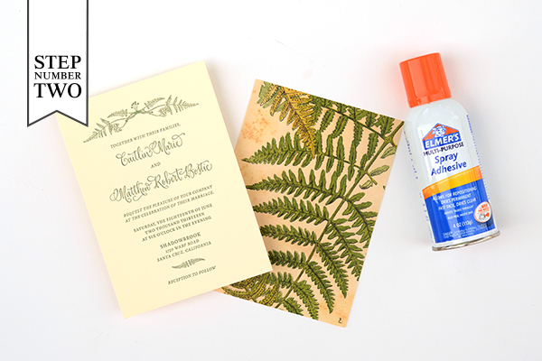 Patterned Backer Step2 DIY Tutorial: How to Back Invitations with Patterned Paper