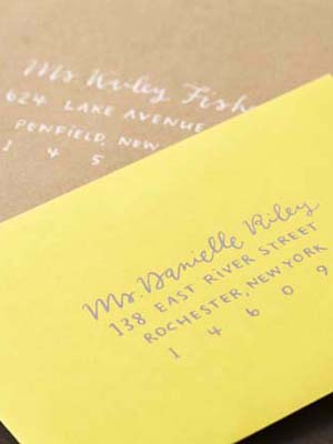Modern Yellow Wedding Invitations Sugar and Type OSBP4 Megan + Mikes Rustic Modern Yellow Wedding Invitations