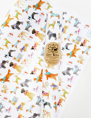 NSS Sneak Peek Lydia and Pugs Gift Wrap NSS 2014 Sneak Peek: Lydia & Pugs