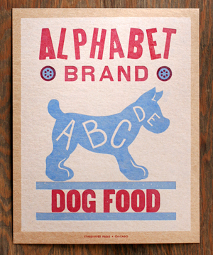 Vintage Eats Letterpress Posters Starshaped Press OSBP Quick Pick: Vintage Eats Letterpress Prints