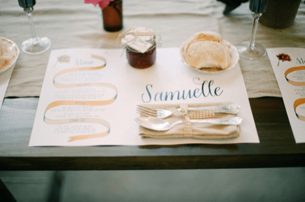 Wedding Placemat Wolley Byron Loves Fawn 600x397 Wedding Stationery Inspiration: Placemats