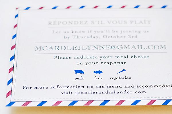 Airmail Wedding Invitations Suite Paperie OSBP7 Jennifer + Iskanders Bilingual Airmail Wedding Invitations