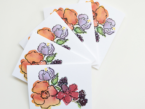 Courtney Khail Watercolor Stationery OSBP Floral Quick Pick: Courtney Khail Watercolor Stationery