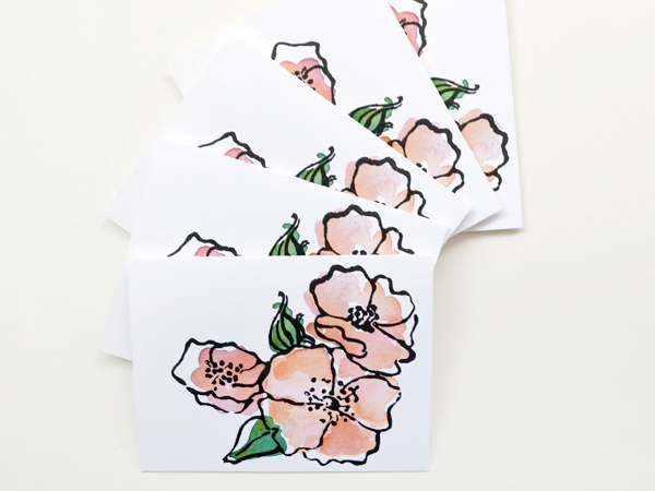 Courtney Khail Watercolor Stationery OSBP Garden Rose Quick Pick: Courtney Khail Watercolor Stationery
