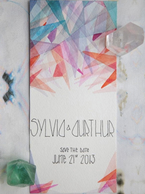 Geometric Wedding Save the Date Spencer Studio Wedding Stationery Inspiration: Geometric Shapes