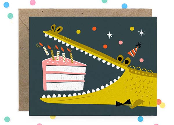 Hooray Today Alligator Birthday Card Quick Pick: Hooray Today