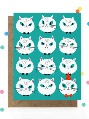 Hooray Today Angry Cat Birthday Card Quick Pick: Hooray Today