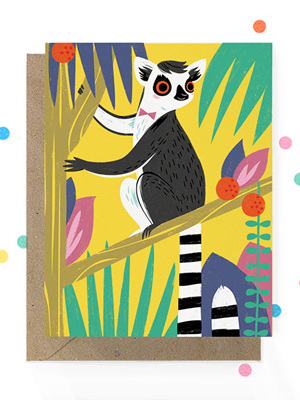 Hooray Today Lemur Greeting Card Quick Pick: Hooray Today