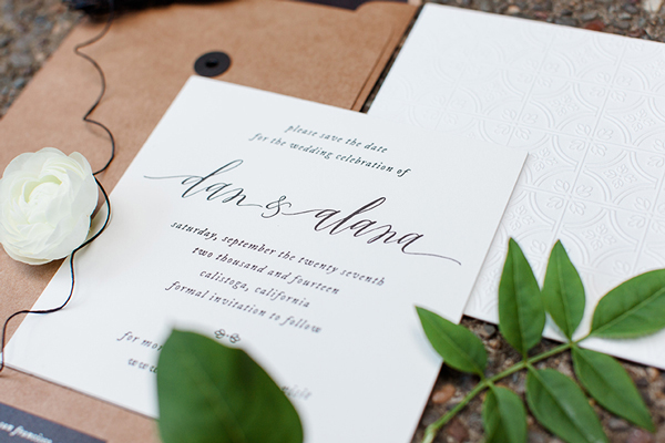 Letterpress Blind Emboss Save the Date Vellum and Vogue OSBP3 Alana + Dans Blind Emboss Letterpress Save the Dates