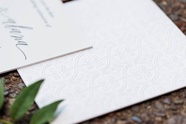 Letterpress Blind Emboss Save the Date Vellum and Vogue OSBP4 Alana + Dans Blind Emboss Letterpress Save the Dates