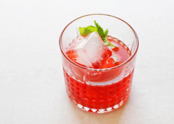 Strawberry Mint Smash Cocktail Recipe OSBP 25 Friday Happy Hour: The Strawberry Mint Smash
