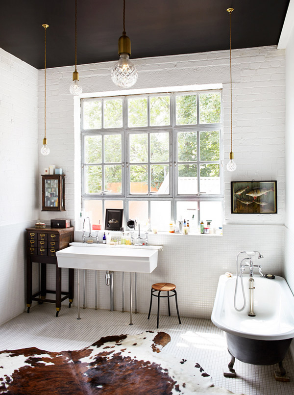 Bathroom Black Ceiling Christopher Sturman Desire to Inspire OSBP at Home: Small Bathroom Renovation Inspiration