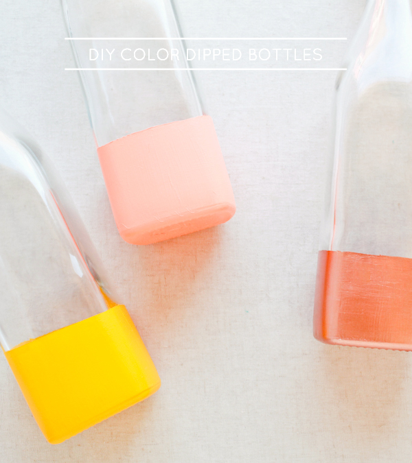 DIY Color Dipped Bottles OSBP DIY Tutorial: Color Dipped Picnic Bottles