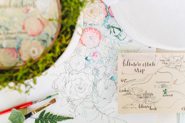 Embroidery Inspired Wedding Invitations Momental Designs OSBP 7 Embroidery and Millinery Wedding Invitation Inspiration