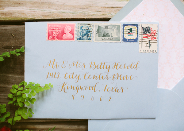 Envelope Inspiration Calligraphy Vintage Stamps OSBP 9 Envelope Inspiration: Calligraphy and Vintage Stamps