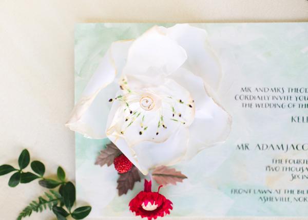 Millnery Wedding Invitations Momental Designs OSBP 8 Embroidery and Millinery Wedding Invitation Inspiration