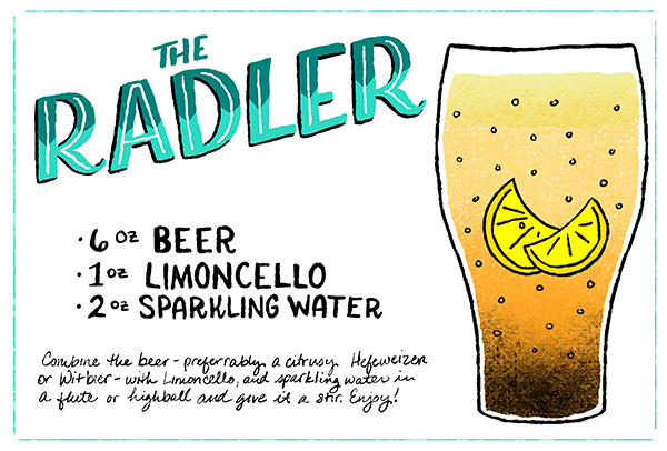 The Radler Cocktail Recipe Card Shauna Lynn Illustration OSBP Friday Happy Hour: The Radler
