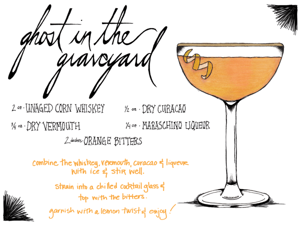 Unaged White Whiskey Cocktail Recipe Card Nicole Miazgowicz OSBP Friday Happy Hour: Moonshine (aka Unaged Whiskey Cocktail)