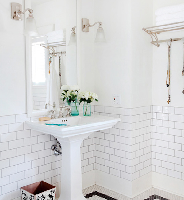 White Subway Tile Bathroom Riesco Lapres Desire to Inspire OSBP at Home: Small Bathroom Renovation Inspiration