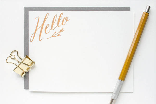 Hello Letterpress Stationery Erin Wallace OSBP Quick Pick: Erin Wallace Letterpress Stationery