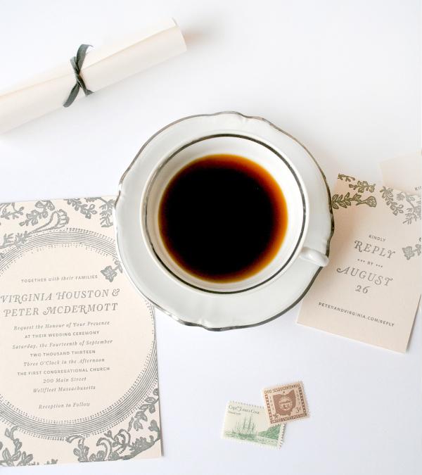 Low Key Cape Cod Wedding Invitations Christine Wisnieski OSBP5 Virginia + Peters Low Key Wedding Invitations