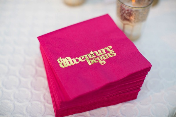 cocktail napkins Wedding Stationery Inspiration: Bougainvillea