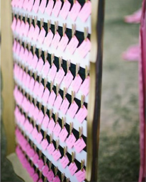 ombre escort cards2 Wedding Stationery Inspiration: Bougainvillea