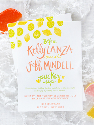 Citrus Bridal Shower Invitations StudioDIY 9thLetterPress OSBP4 Kellys Citrus Inspired Bridal Shower Invitations