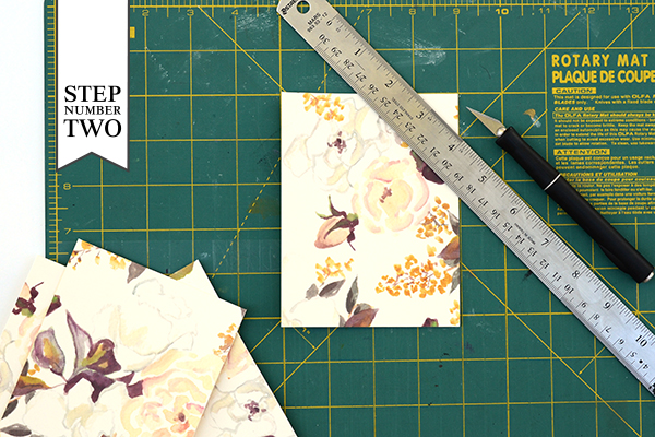 Floral Tag STD Step2 DIY Tutorial: Floral Save the Date Tags