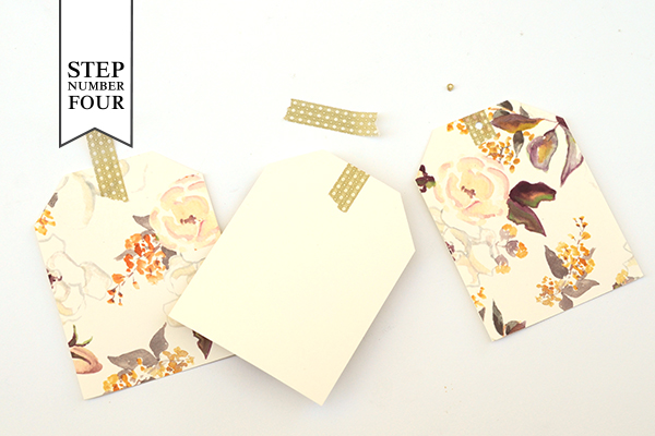 Floral Tag STD Step4 DIY Tutorial: Floral Save the Date Tags