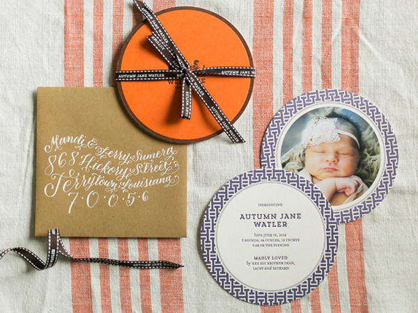 Hermes Inspired Baby Announcement Atheneum Creative Autumns Hermès Inspired Baby Announcements